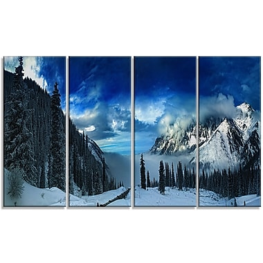 DesignArt 'Panorama of Snowy Mountains' Photographic Print Multi-Piece Image on Canvas