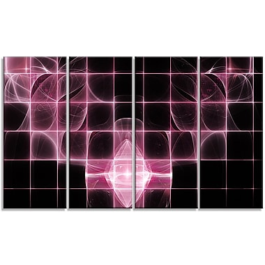 DesignArt 'Pink Bat Outline on Radar' Graphic Art Print Multi-Piece Image on Canvas