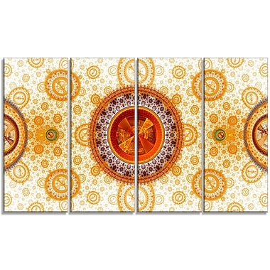 DesignArt 'Yellow Psychedelic Relaxing' Graphic Art Print Multi-Piece Image on Canvas