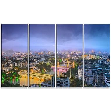 DesignArt 'Li River and Karst Hills Panorama' Photographic Print Multi-Piece Image on Canvas