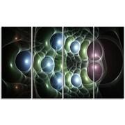 DesignArt 'Light Blue 3D Surreal Circles' Graphic Art Print Multi-Piece Image on Canvas