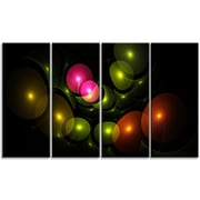 DesignArt 'Multi-Color 3D Surreal Circles' Graphic Art Print Multi-Piece Image on Canvas