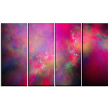 DesignArt 'Perfect Red Starry Sky' Painting Print Multi-Piece Image on Canvas