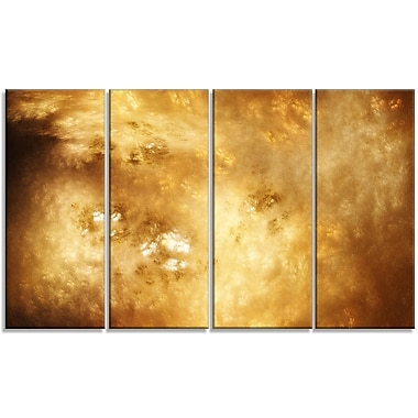 DesignArt 'Perfect Brown Starry Sky' Painting Print Multi-Piece Image on Canvas
