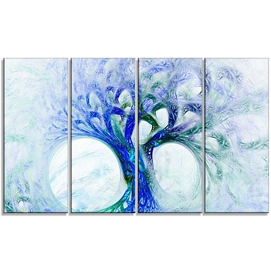 DesignArt 'Blue Mystic Psychedelic Tree' Graphic Art Print Multi-Piece Image on Canvas