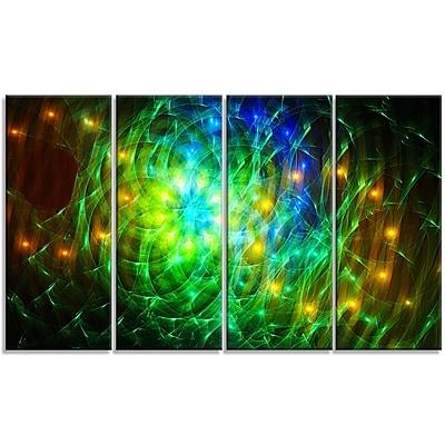 DesignArt 'Green Fractal Symphony of Colors' Graphic Art Print Multi-Piece Image on Canvas
