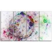 DesignArt 'Colorful Spherical Planet Bubbles' Graphic Art Print Multi-Piece Image on Canvas