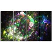 DesignArt 'Spherical Planet Bubbles' Graphic Art Print Multi-Piece Image on Canvas