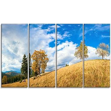 DesignArt 'Mountain Autumn Panorama' Photographic Print Multi-Piece Image on Canvas