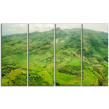 DesignArt 'Highlands around Addis Ababa' Photographic Print Multi-Piece Image on Canvas