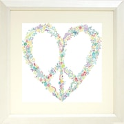 Buy Art For Less 'Peace Heart' Framed Graphic Art Print