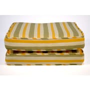 Wildon Home   Boxed and Welted Stripe Outdoor Dining Chair Cushion (Set of 2)