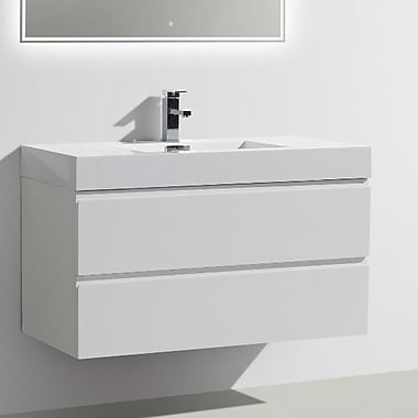 Morenobath MOF 39'' Single Bathroom Vanity Set; High Gloss White