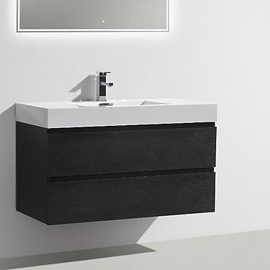 Morenobath MOF 39'' Single Bathroom Vanity Set; Black