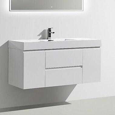 Morenobath MOF 47'' Single Bathroom Vanity Set; High Gloss White