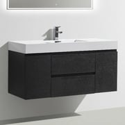 Morenobath MOF 47'' Single Bathroom Vanity Set; Black