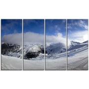 DesignArt 'Winter in Alps Panorama' Photographic Print Multi-Piece Image on Canvas