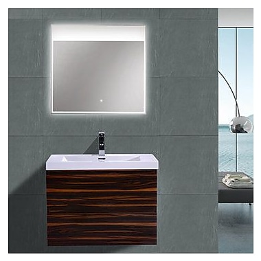 Morenobath MOB 29'' Single Bathroom Vanity Set; High Gloss Rose Walnut