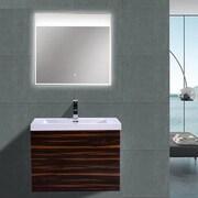 Morenobath MOB 29'' Single Bathroom Vanity Set; High Gloss Rose Walnut