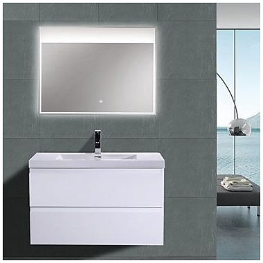 Morenobath MOB 36'' Single Bathroom Vanity Set; High Gloss White