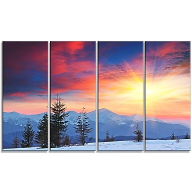 DesignArt 'Beautiful Winter Landscape View' Photographic Print Multi-Piece Image on Canvas