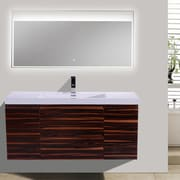 Morenobath MOB 47'' Single Bathroom Vanity Set; High Gloss Rose Walnut