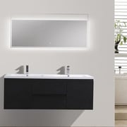 Morenobath MOB 59'' Double Bathroom Vanity Set; Black