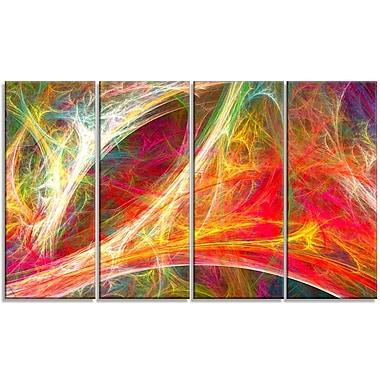 DesignArt 'Mystic Red Fractal' Graphic Art Print Multi-Piece Image on Canvas