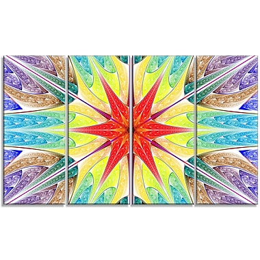 DesignArt 'Beautiful Colorful Stained Glass' Graphic Art Print Multi-Piece Image on Canvas