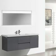 Morenobath MOB 59'' Single Bathroom Vanity Set; High Gloss Gray