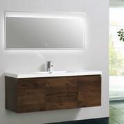 Morenobath MOB 59'' Single Bathroom Vanity Set; Rosewood