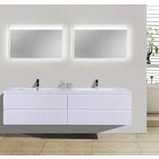 Morenobath MOB 71'' Double Bathroom Vanity Set; High Gloss White