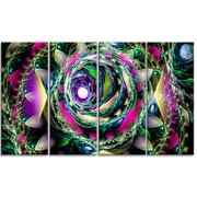 DesignArt 'Colorful Exotic Whirlpool Flower' Graphic Art Print Multi-Piece Image on Canvas