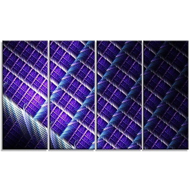 DesignArt 'Light Purple Metal Grill' Graphic Art Print Multi-Piece Image on Canvas