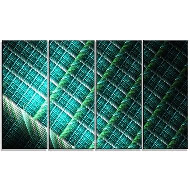 DesignArt 'Green Fractal Grill' Graphic Art Print Multi-Piece Image on Canvas