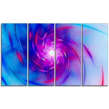 DesignArt 'Turquoise Whirlpool Fractal Spirals' Graphic Art Print Multi-Piece Image on Canvas