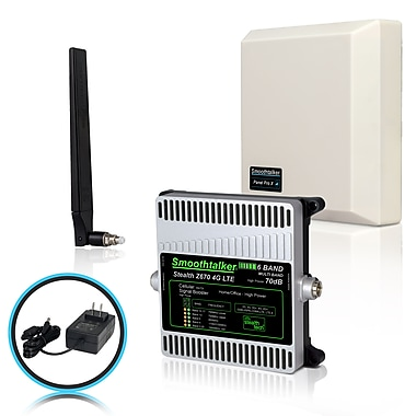 Smoothtalker Stealth Z6 70dB 4G/LTE High Power 6-Band Cellular Signal Booster Kit