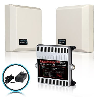 Smoothtalker Stealth X6 60dB 4G LTE Extreme Power 6-Band Cellular Signal Booster Kit