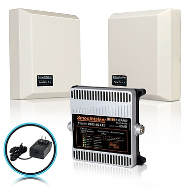 Smoothtalker Stealth X6 65dB 4G LTE Extreme Power 6-Band Cellular Signal Booster Kit