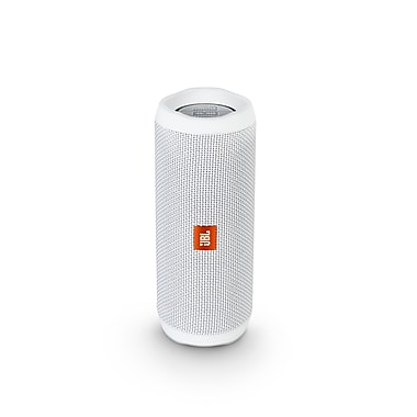 JBL Flip 4 Portable Bluetooth Speaker, White