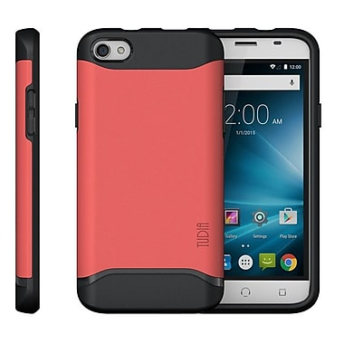 TUDIA Slim-Fit MERGE Dual Layer Protective Case for NUU Mobile X4 Smartphone (Rose Pink)