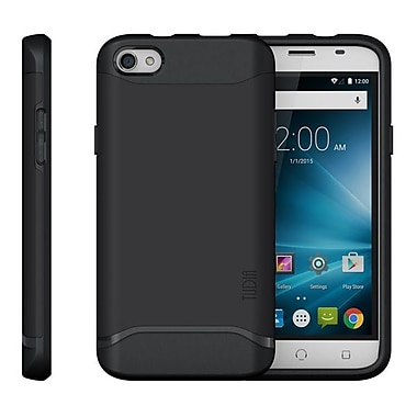 TUDIA Slim-Fit MERGE Dual Layer Protective Case for NUU Mobile X4 Smartphone (Matte Black)