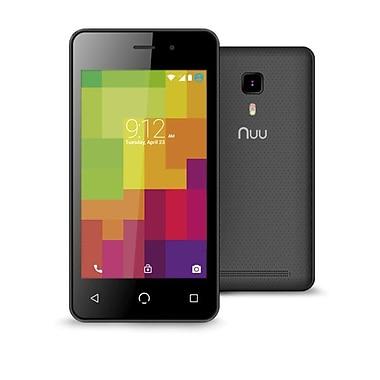 NUU Mobile – Téléphone intelligent A1+ Android avec écran tactile de 4 po, noir