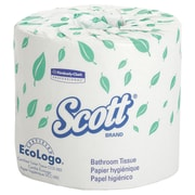 "Scott® 4.1"" x 4"" 2-Ply Standard Roll Bathroom Tissue, White, 550 Sheets"