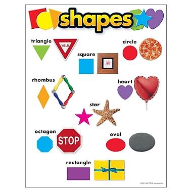 Trend Enterprises® Shapes Learning Chart, Grades pre-kindergarten - 1st