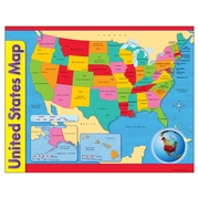 Trend Enterprises United States Map Learning Chart, 10/Pack (T-38097)