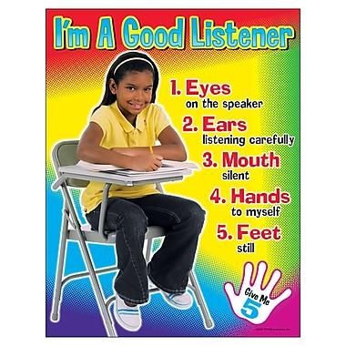 Trend Enterprises® I'm A Good Listener Learning Chart