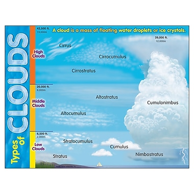 Trend Enterprises® Types of Clouds Learning Chart
