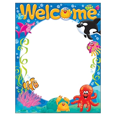 Trend Enterprises® Welcome Sea Buddies™ Learning Chart, Grade PreK - 3rd