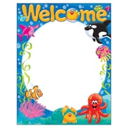 Trend Enterprises® Welcome Sea Buddies™ Learning Chart, Grade PreK - 3rd